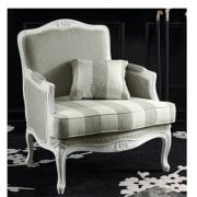 Cream Patterned Classic Chair 9144P