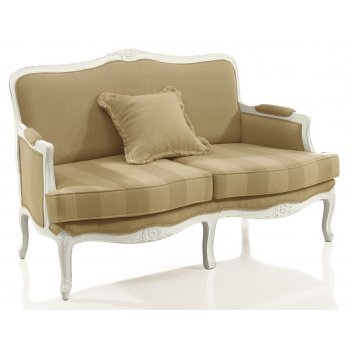 Cream Upholstered Classic 2 Seater Sofa 9144D