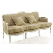 Cream Upholstered Classic 3 Seater Sofa 9144E