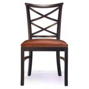 Cross Dark Brown Upholstered Chair