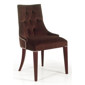 Dark Brown Upholstered Side Chair 0410S
