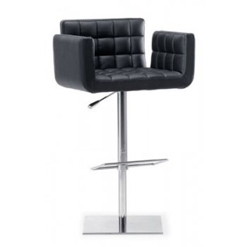 Dave Allen Leather Upholstered Barstool