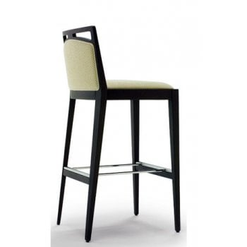 Desiree Cream and Dark Wood Barstool