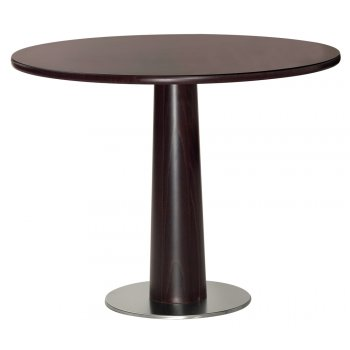 Elegante Dark Wood Circular Coffee Table WG