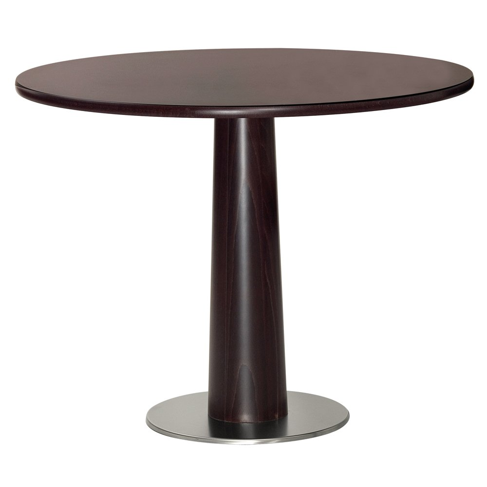 Elegante Dark Wood Circular Coffee Table Wg From Ultimate Contract Uk