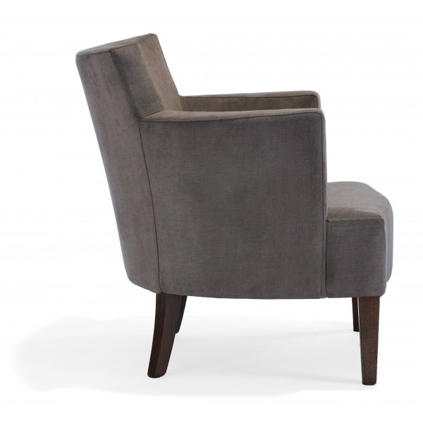 Evelyne PL Dark Wood Lounge Chair NL from Ultimate Contract UK