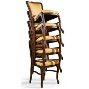 Fiorino Dark Wood Stackable Chair
