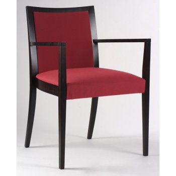 Grace Crimson and Dark Wood Armchair