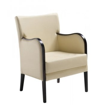 Grecia 2 Cream and Dark Wood Armchair