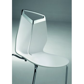 Gripp White Design Back Side Chair