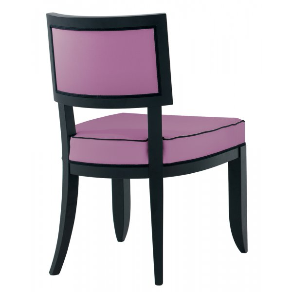 Holly Purple And Dark Wood Side Chair