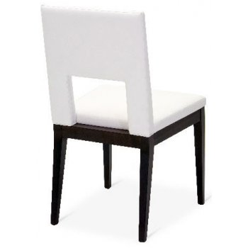 Holly Retro White and Balck Side Chair