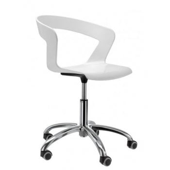 Ibis White Retro Back Office Chair