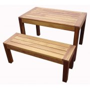 Iroko Dark Wood Bench TF