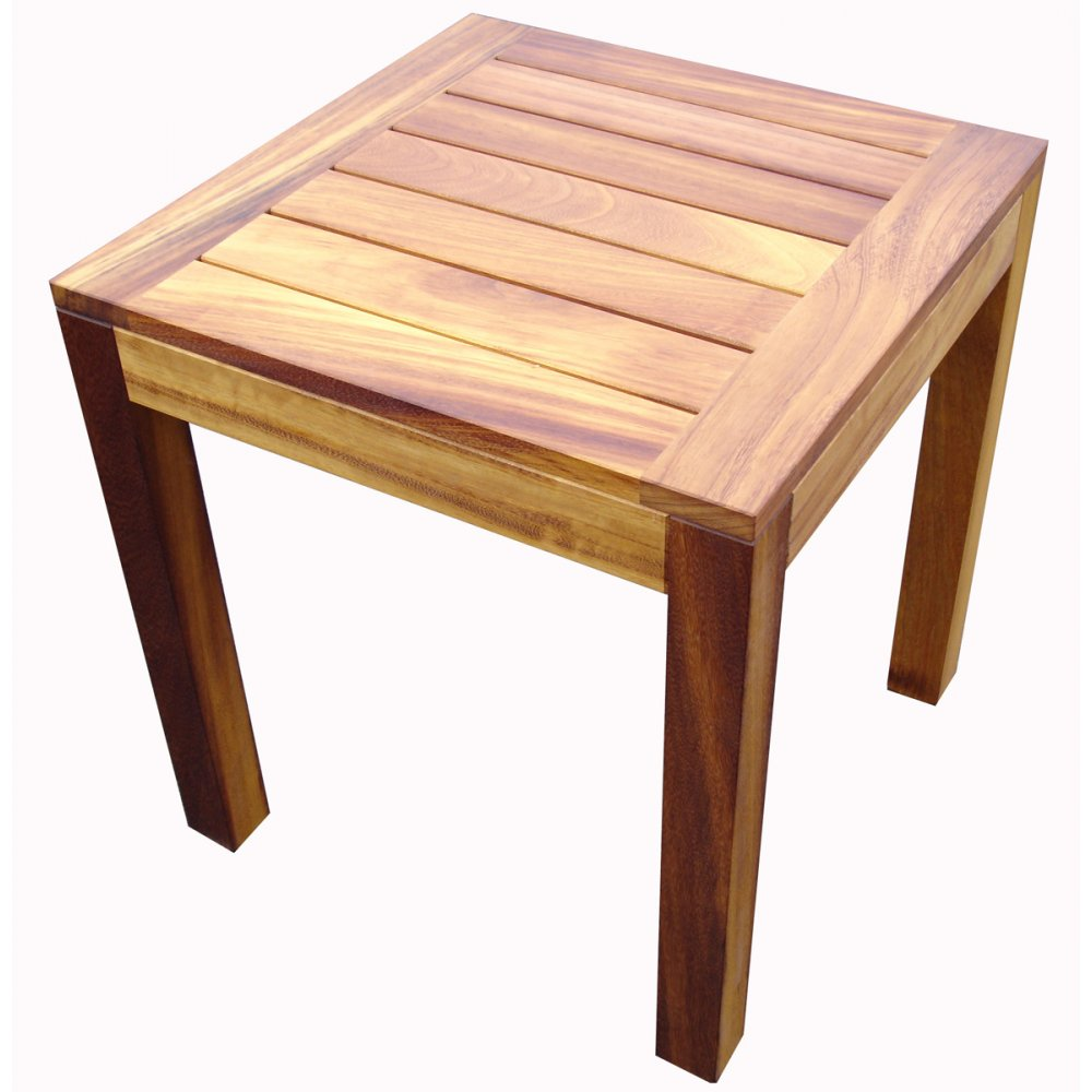Iroko Light Wood End Table From Ultimate Contract Uk