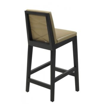 Kaly Dark Wood Barstool