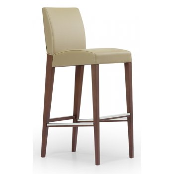 Karen Cream and Light Wood Barstool M566 MC