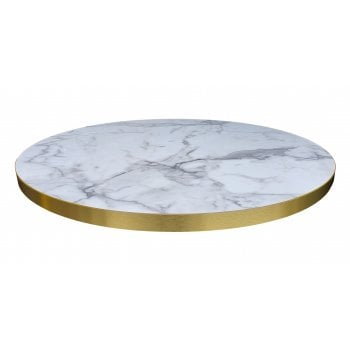 Laminate Top with ABS Brass look Edge