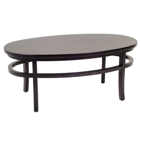 Wood Oval Coffee Table Made In China: Lara Hall Dark Wood Oval Coffee Table C100