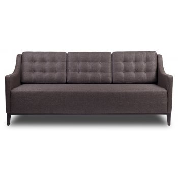 Living Dark Upholstered 3 Seater Sofa