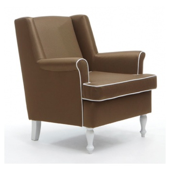 Lux Dark Upholstered Chair