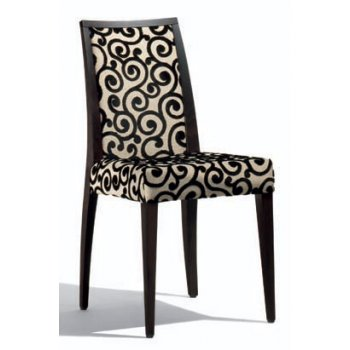 Malaga Cream, Floral Pattern Side Chair