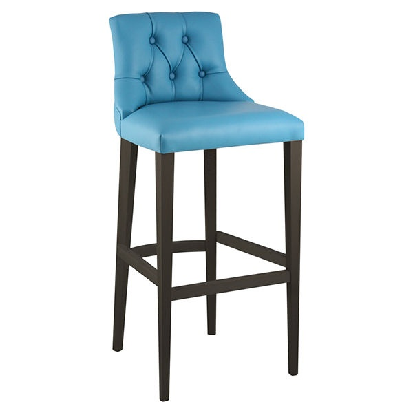 Manaus beta dark wood bar stool from ultimate contract uk for Dark wood bar stools