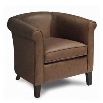 Marc Leather Upholstered Lounge Chair LRA