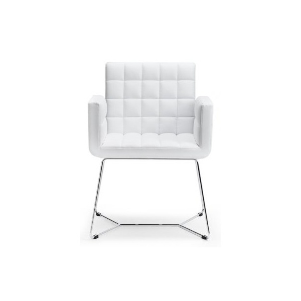 Marsiglia White And Metal Armchair