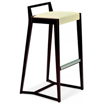 Mia Cream and Dark Wood Barstool