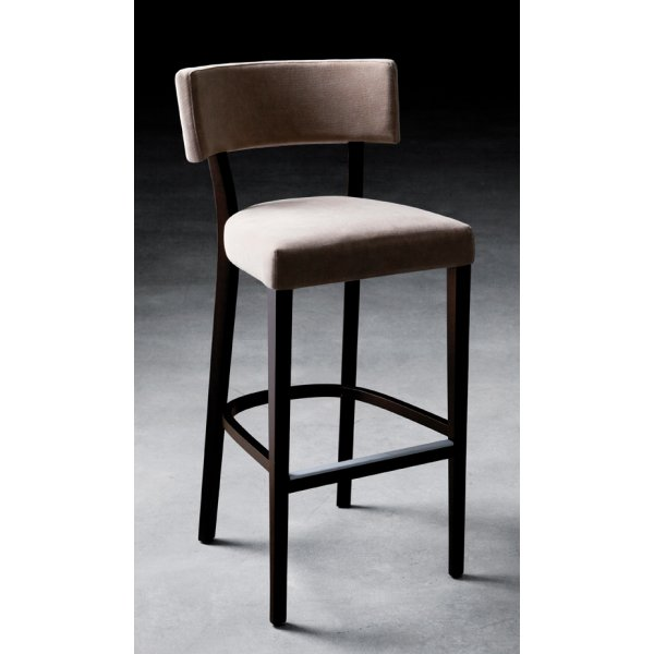 Miami Dark Wood Upholstered Barstool 401 From Ultimate