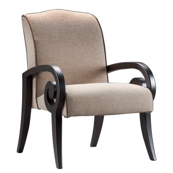 Mira Dark Wood Unique Feature Lounge Chair