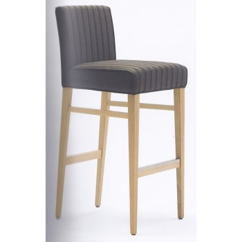 Moena Dark Blue Upholstered Barstool