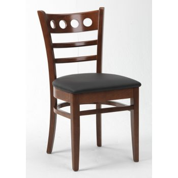 Montano Dark Wood Upholstered Chair