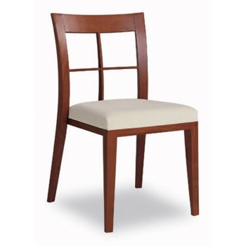 Logica Cream Light Wood Side Chair