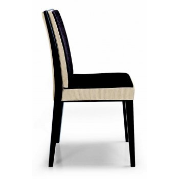 Montbel Collection Newport Cream and Black Side Chair
