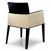 Newport Cream and Dark Wood Armchair 01831