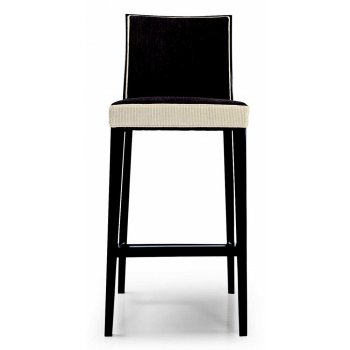 Montbel Collection Newport Cream and Dark Wood Barstool 01881