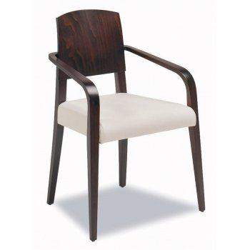 Montbel Collection Piper Cream Seat and Dark Wood Armchair 00821