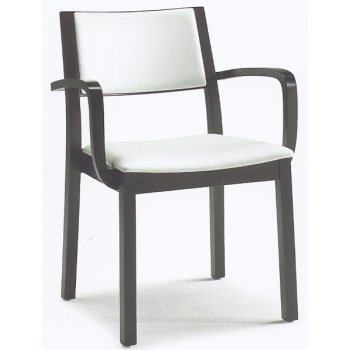 Montbel Collection Sintesi White and Black Armchair 01522