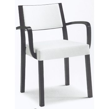 Montbel Collection Sintesi White and Black Armchair 01524