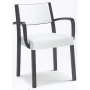 Sintesi White and Black Armchair 01524