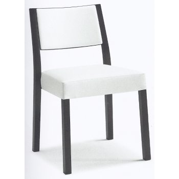 Montbel Collection Sintesi White and Black Side Chair 01514