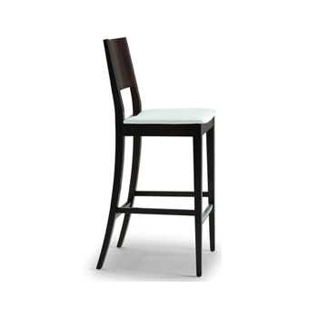 Montbel Collection Sintesi White and Dark Wood Barstool 01581