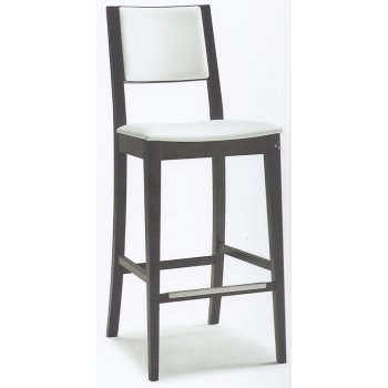 Montbel Collection Sintesi White and Dark Wood Barstool 01582
