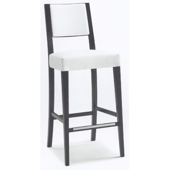 Montbel Collection Sintesi White and Dark Wood Barstool 01584