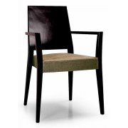 Timberly Cream and Dark Wood Armchair 01721