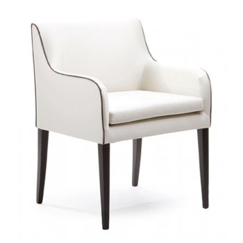 Moon Leather Upholstered Chair