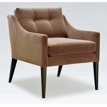Mr Smith Brown and Dark Wood Armchair