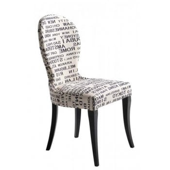 Nea 'Cities of the World' Decorative Side Chair